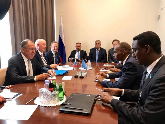 PM Kheyre meeting with Russian FM during UNGA